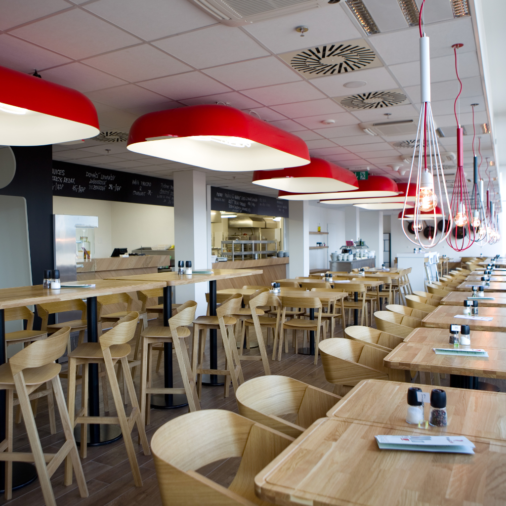 red cafe, restaurante de diseño, muebles contract, decoración de restaurantes, diseño de interiores