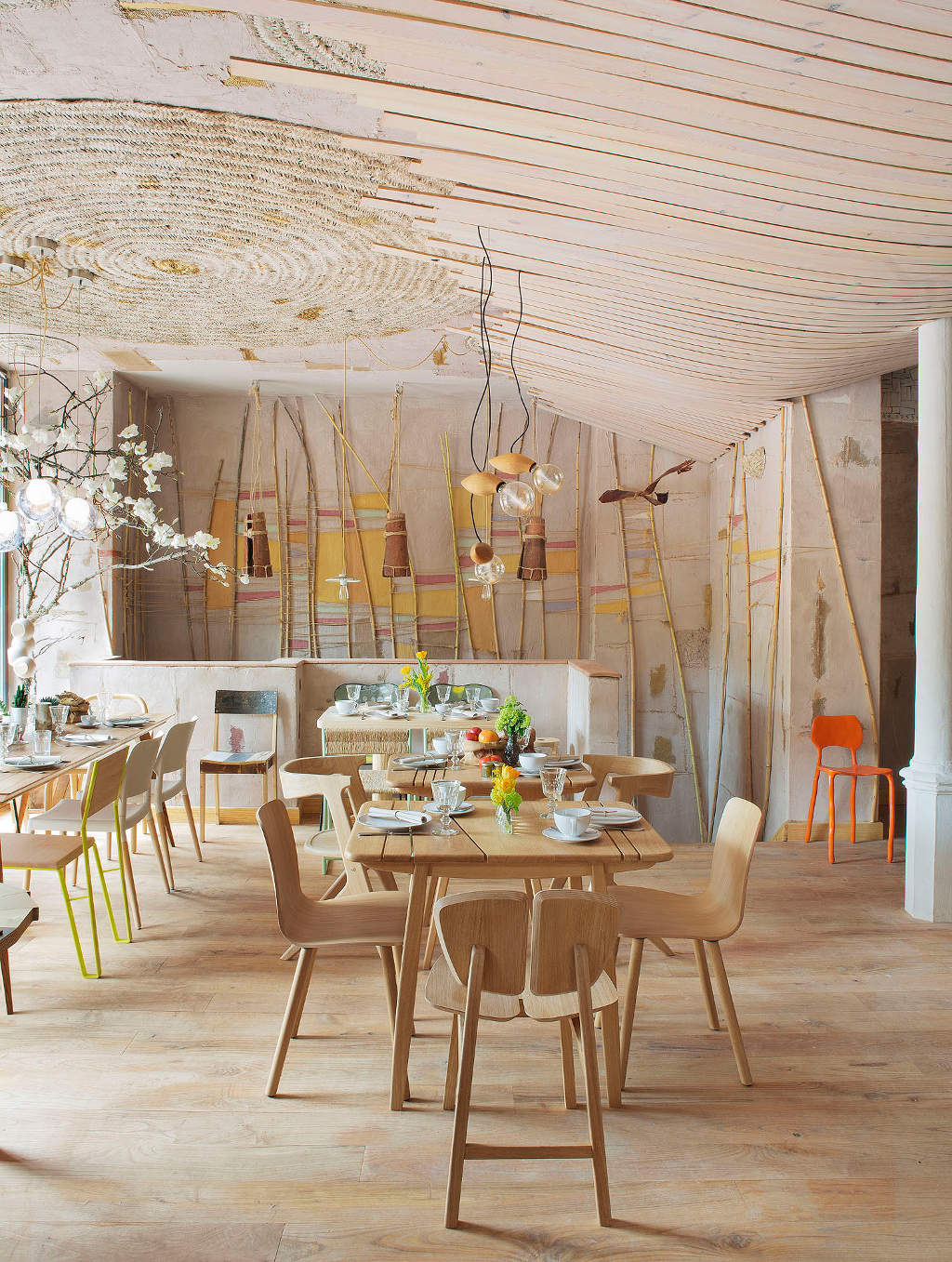 restaurante, restaurante madrid, mama campo, diseño sostenible , muebles contract, muebles de restaurantes