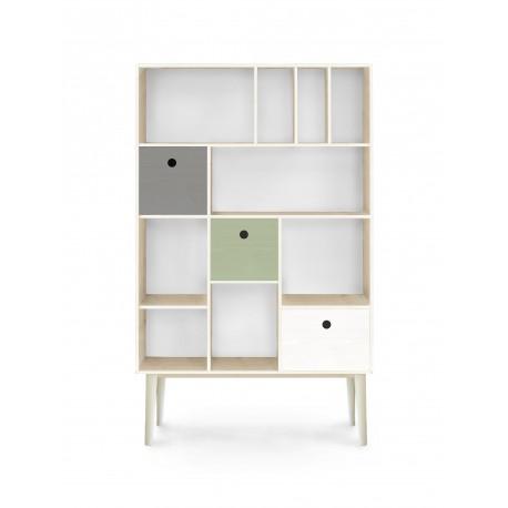 mueble organizador, mueble módulos, librería, mueble librería, mueble separadores, muebles nórdicos, mueble ordenación
