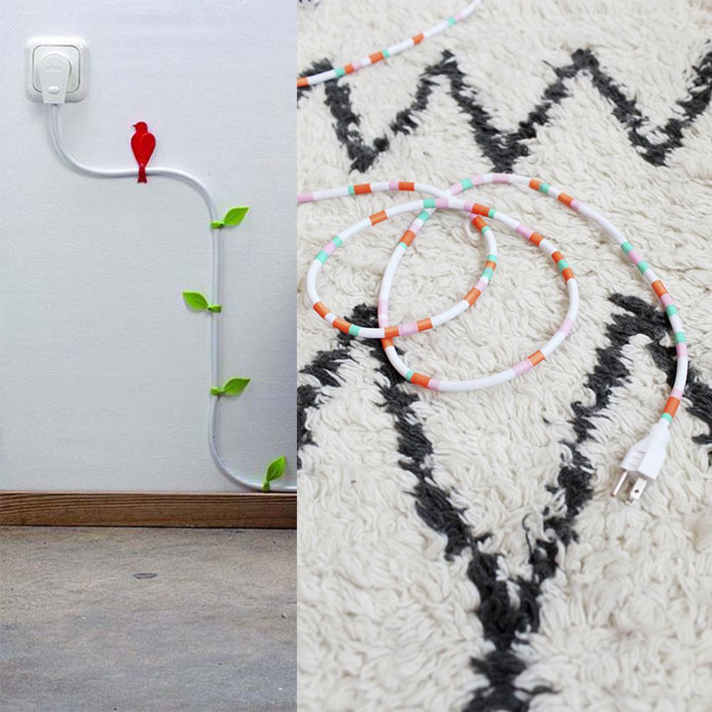 ocultar los cables, esconder los cables, decorar cables, decorar oficina, decorar estudio, decoración interiores, really nice things, ideas para oficinas, ideas de decoración